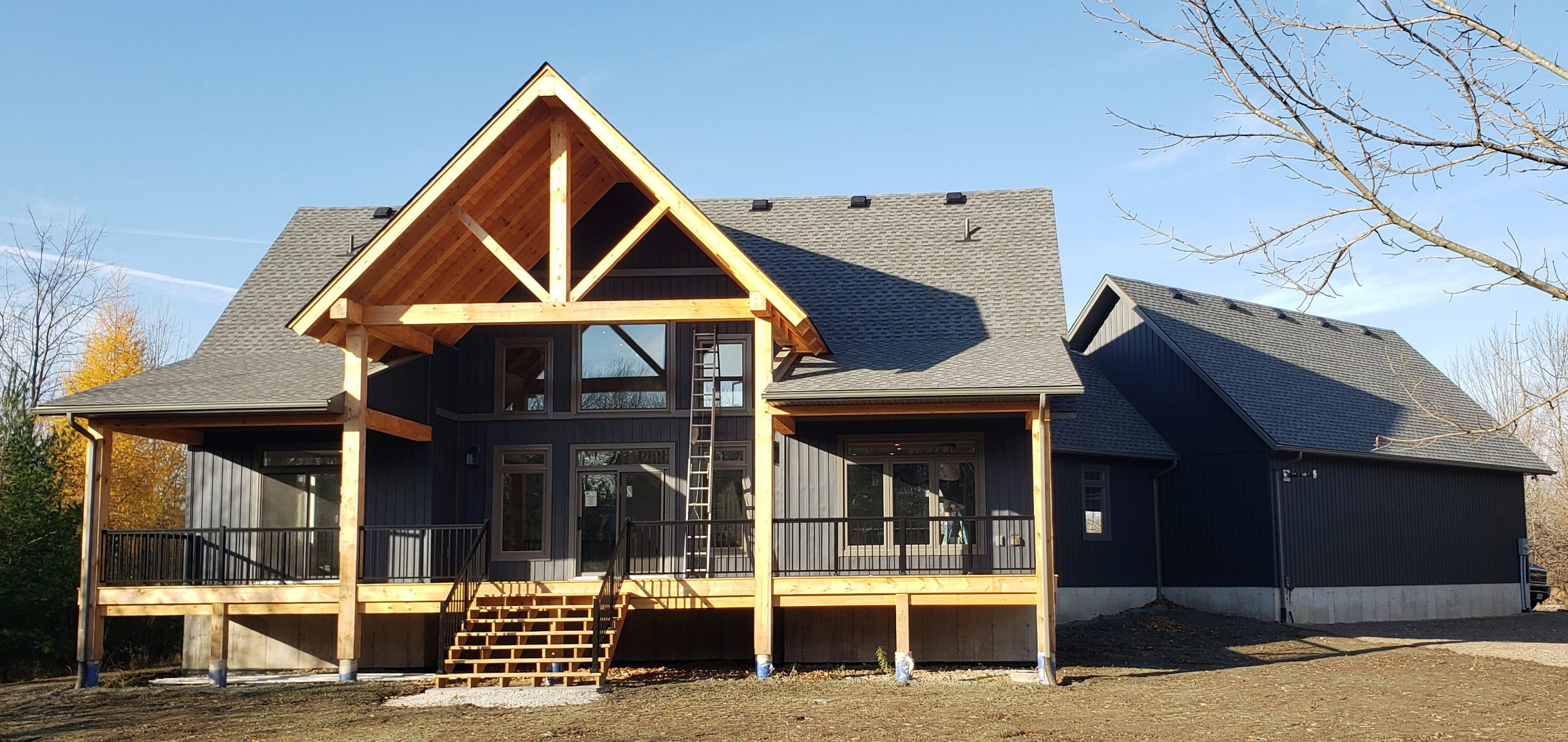 Modern Home with Timber Porch